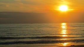Заход солнца на море стоковые фотографии rf