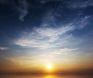 Заход солнца на море Стоковое Изображение RF