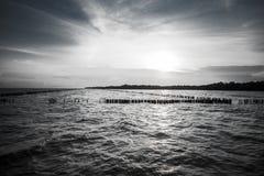 Заход солнца на море Khun Thian челки Стоковые Изображения