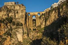 Заход солнца над мостом Tajo de Ronda Стоковое Изображение RF
