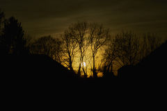 Заход солнца над Мюнхеном Стоковое Изображение RF