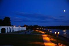 Заход солнца на Новгороде Стоковое фото RF