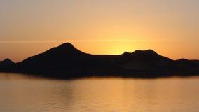 Заход солнца на нолях стоковая фотография rf