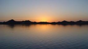 Заход солнца на нолях стоковые фото
