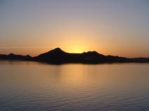 Заход солнца на нолях стоковая фотография