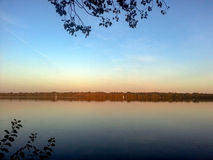 Заход солнца на озере Гариетте Стоковое Фото
