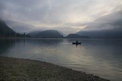 Заход солнца на озере Италии Стоковое Изображение