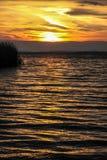 Заход солнца на озере Bodensee в Германии Стоковое Фото