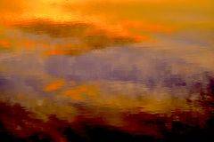 Заход солнца на озере Skannati Стоковые Фото