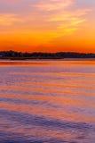 Заход солнца на озере Wausau стоковые фото