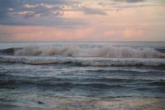 Заход солнца на океане на Myrtle Beach, Южной Каролине Стоковое Изображение