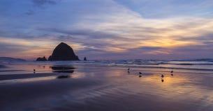 Заход солнца на океане Стоковое Фото
