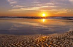 Заход солнца на океане Стоковое фото RF
