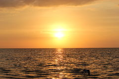 Заход солнца на океане Стоковые Фотографии RF