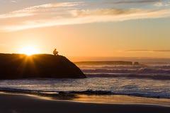 Заход солнца на океане Стоковая Фотография RF