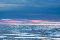 Заход солнца над океаном/морем Стоковая Фотография RF