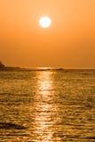 Заход солнца над океаном Стоковое Фото