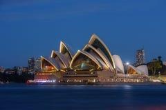 Заход солнца на оперном театре Сиднея, Стоковое Изображение