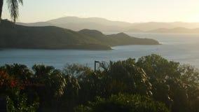 Заход солнца на острове Гамильтона Стоковые Изображения RF