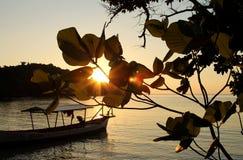 Заход солнца на острове Киева животиков Koh Стоковая Фотография RF