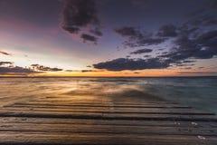 Заход солнца на острове Филиппа Стоковые Изображения RF