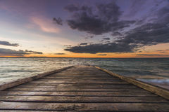 Заход солнца на острове Филиппа Стоковое фото RF