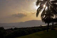 Заход солнца на острове Хайнаня Стоковое Изображение RF