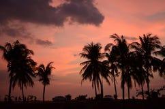 Заход солнца на острове стоковые фотографии rf