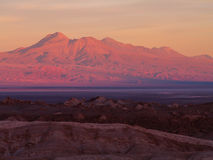 Заход солнца на долине луны Стоковая Фотография RF