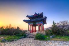 Заход солнца на павильоне Boai Стоковые Фото
