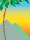 Заход солнца над пирамидками Стоковое Изображение RF