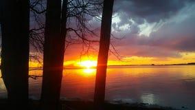 Заход солнца на Потомак стоковое фото rf