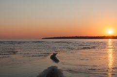 Заход солнца на полуострове Брюс Стоковые Фотографии RF