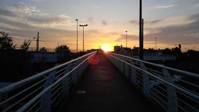 Заход солнца на пути Стоковая Фотография RF