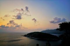 Заход солнца на плаще-накидк Promthep Стоковые Изображения RF