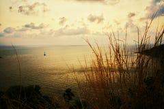 Заход солнца на плаще-накидк Promthep Стоковое фото RF