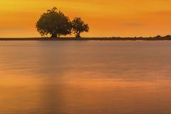 Заход солнца на плаще-накидк Promthep Стоковая Фотография RF