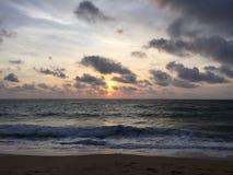 Заход солнца на пляжах Стоковое Изображение RF