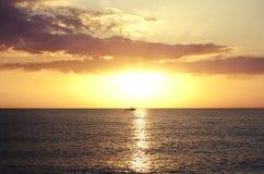 Заход солнца на пляже в Флориде Ключи Флорида Каникулы Стоковое Изображение