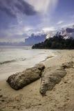 Заход солнца на пляже, Индия Стоковое Изображение