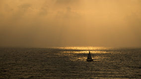 Заход солнца на пляже Apollonia Стоковая Фотография
