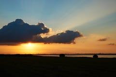 Заход солнца на пляже Knud Стоковое Фото