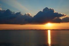 Заход солнца на пляже Knud Стоковая Фотография
