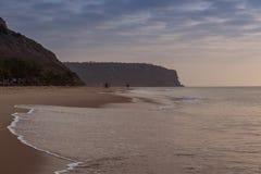 Заход солнца на пляже ledo cabo anisette Стоковое фото RF