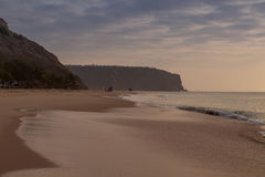Заход солнца на пляже ledo cabo anisette Стоковая Фотография RF