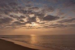 Заход солнца на пляже ledo cabo anisette Стоковые Фото