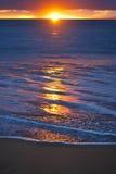 Заход солнца на пляже Poolenalena, Мауи, Гаваи Стоковые Изображения RF