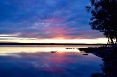 Заход солнца на пляже Wrights Стоковые Изображения