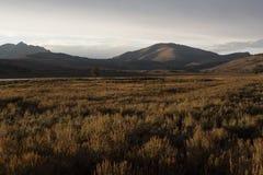 Заход солнца на равнинах Стоковое фото RF