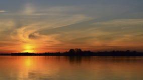 Заход солнца над Рекой Delaware стоковое фото rf